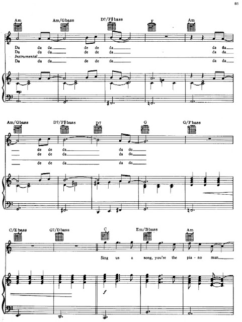 Partitura Piano Billy Joel