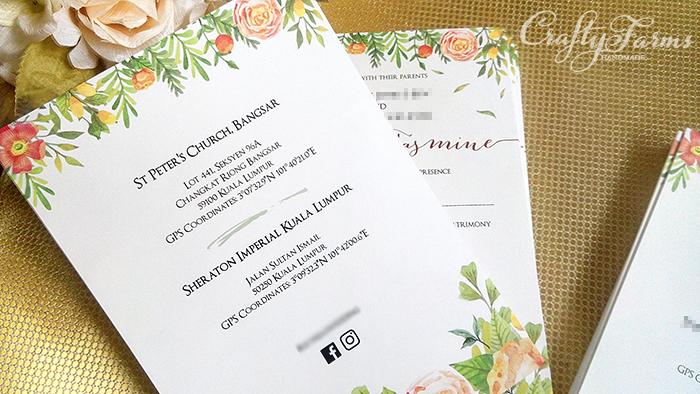 Wedding card malaysia crafty farms handmade floral church floral church wedding invitation cards stopboris Gallery