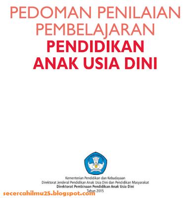 Dokumen Pedoman Penilaian Pembelajaran PAUD