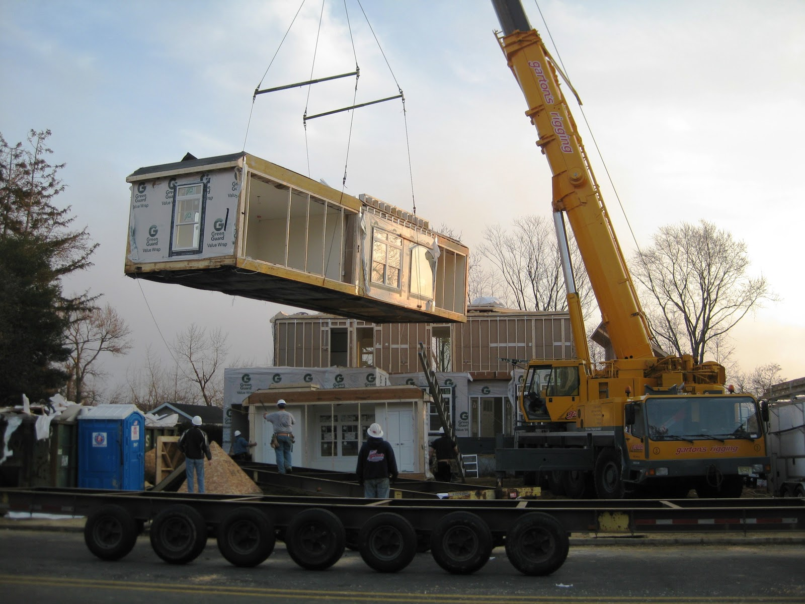 Setting One Of The First Modular Homes In Post Sandy Nj