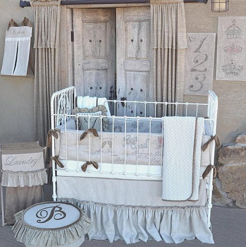 10 Shabby Chic Nursery Design Ideas: Luxury Baby Nursery Blog: Farmhouse French Melle Nursery