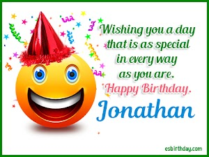 Happy Birthday Jonathan