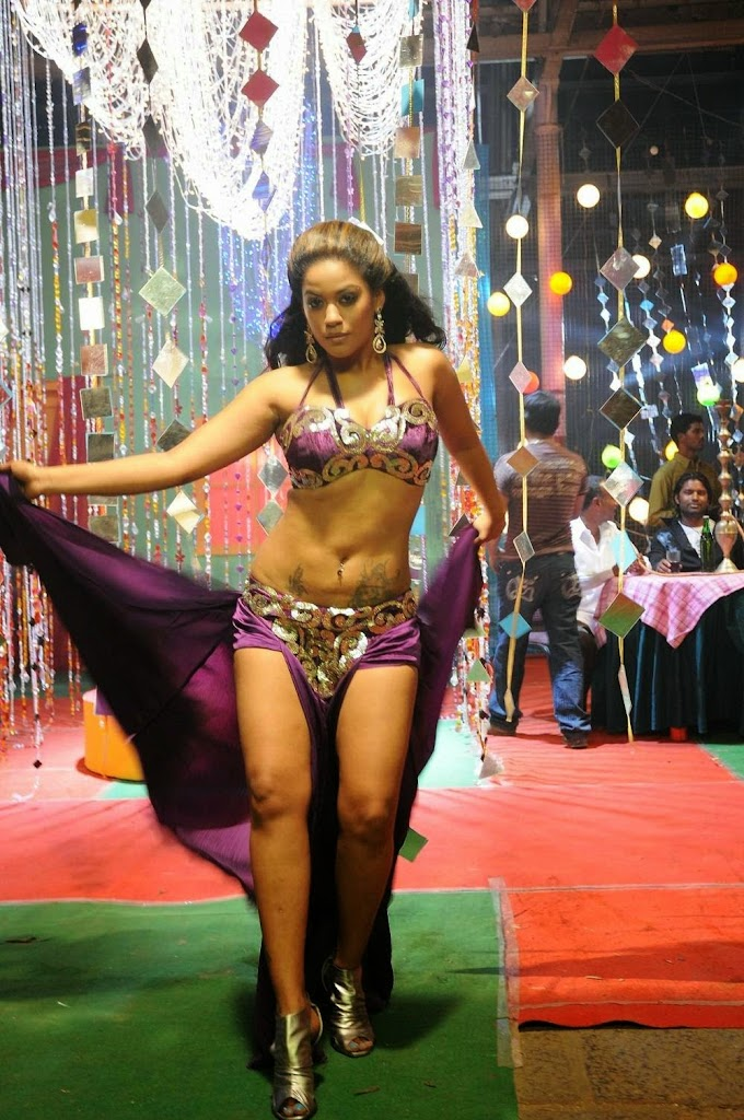 South Indian Item song actress Mumaith khan hot stills from her item song in Bagyanagaram movie
