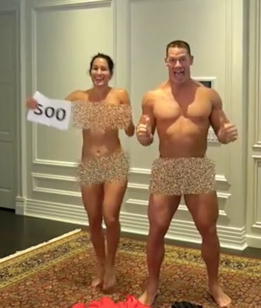 The Randy Report Naked John Cena  Nikki Bella Celebrate 500K Youtube Subscribers-1898