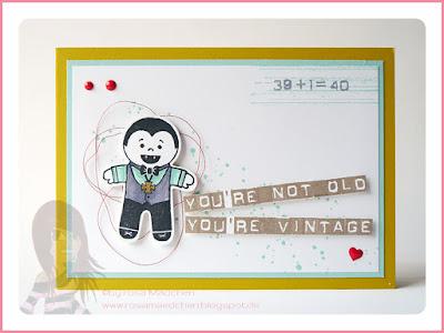 Stampin' Up! rosa Mädchen Kulmbach: Geburtstagskarte mit Gorgeous Grunge, Cookie-Cutter Halloween und Labeler Alphabet