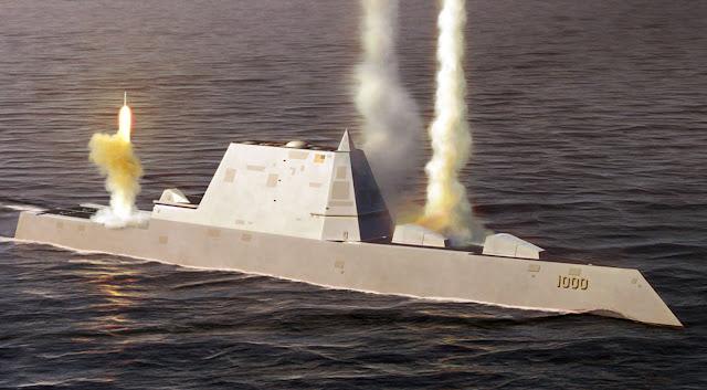 Запуск ракет з есмінця USS Zumwalt