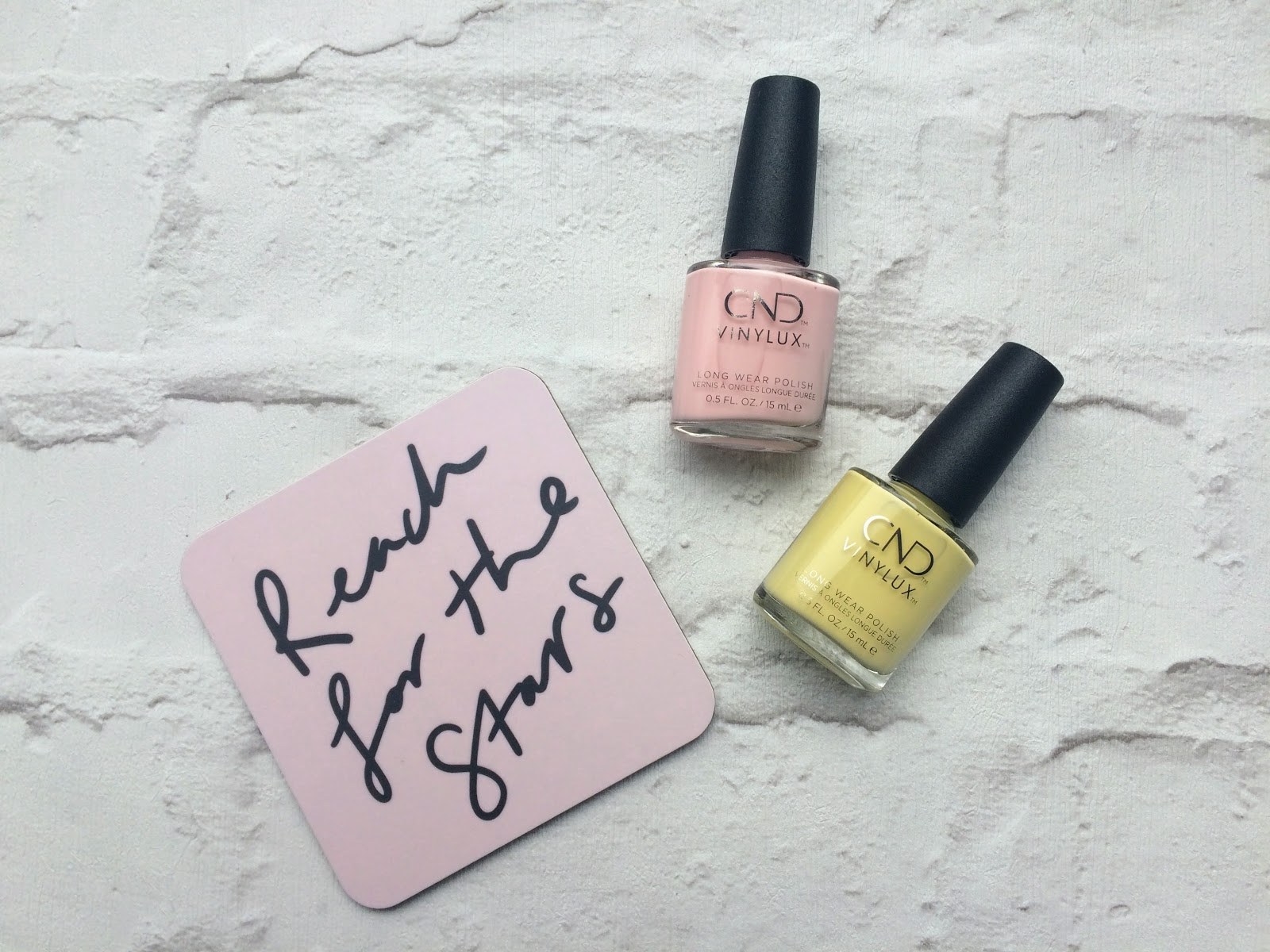 CND Vinylux Candied and Jellied Reach for the starts Old English Company coaste