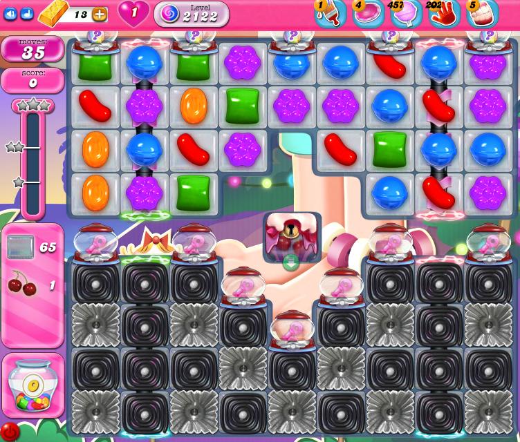 Candy Crush Saga level 2122