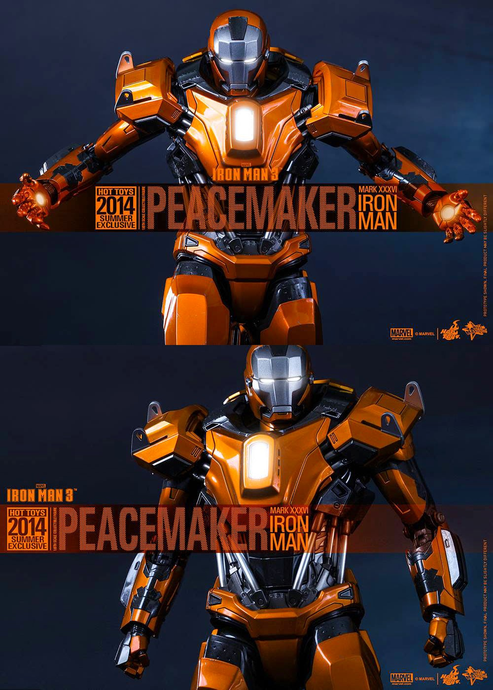 Iron Man 3 16th Scale Peacemaker Mark XXXVI By Hot Toys To Debut At Singapore Toy Games