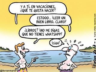 Viñeta Humor Vacaciones 2017 Ferrán Martín