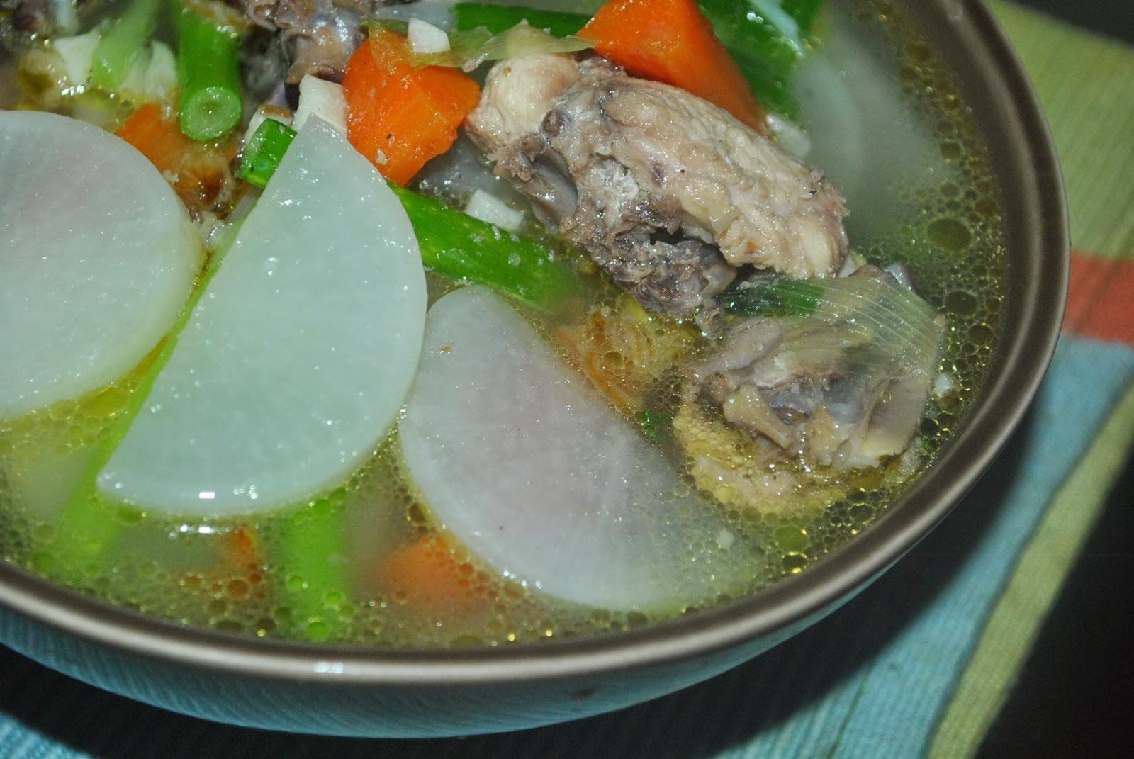 White Raddish En Soup Sup Ayam Lobak Putih