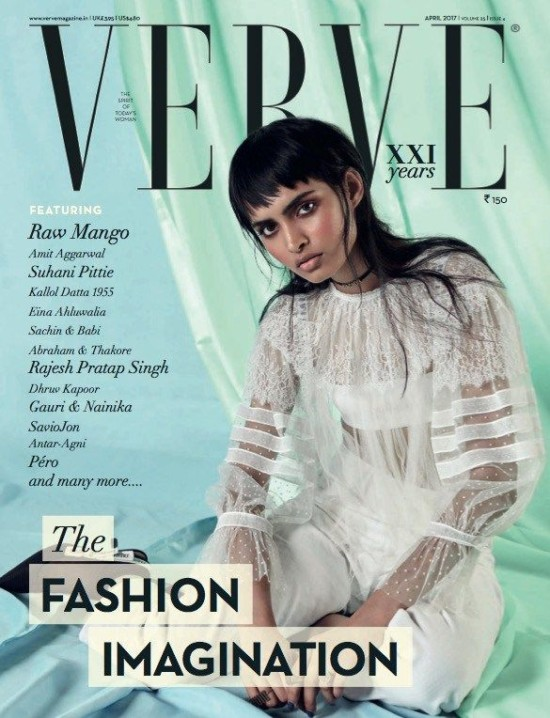 Rasika Navare On The Cover of Verve Magazine India April 2017