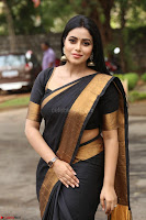 Poorna in Cute Backless Choli Saree Stunning Beauty at Avantika Movie platinum Disc Function ~  Exclusive 096.JPG
