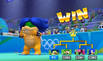Ludwig Von Koopa Table Tennis win victory screen tournament Mario & Sonic at the Rio 2016 Olympic Games 3DS