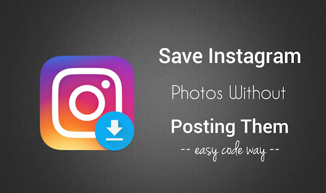 Save photos in Instagram