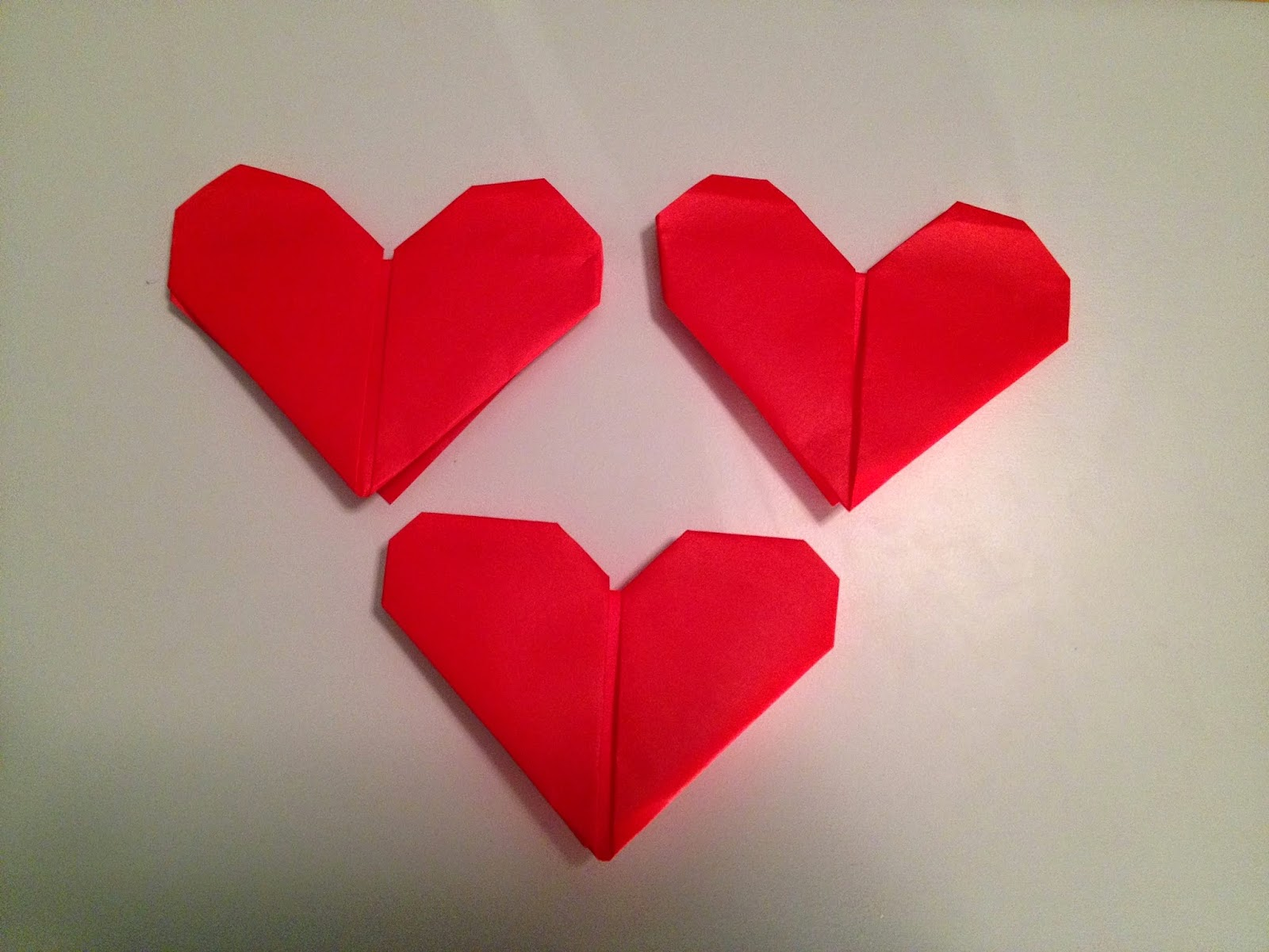 origami heart kids ~ origami flower easy - photo#28