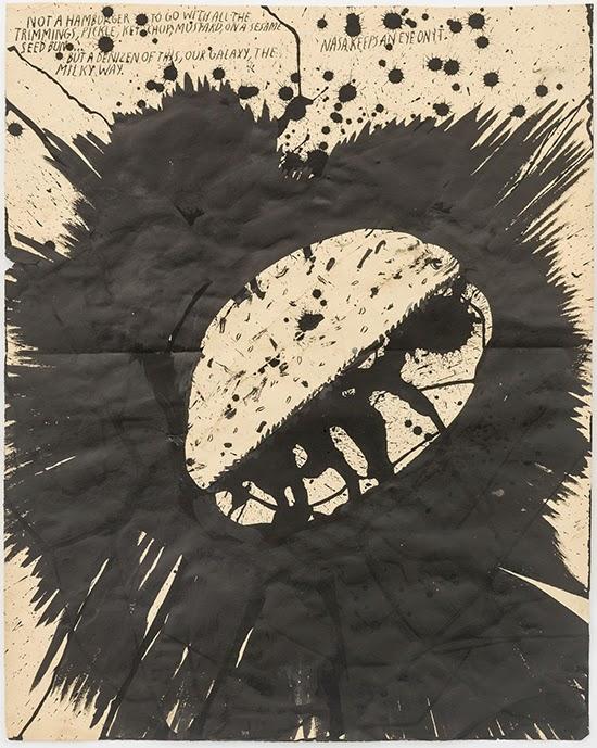 Raymond Pettibon No Title (Not a hamburger), 2015 Ink on paper 71.1 x 55.9 cm