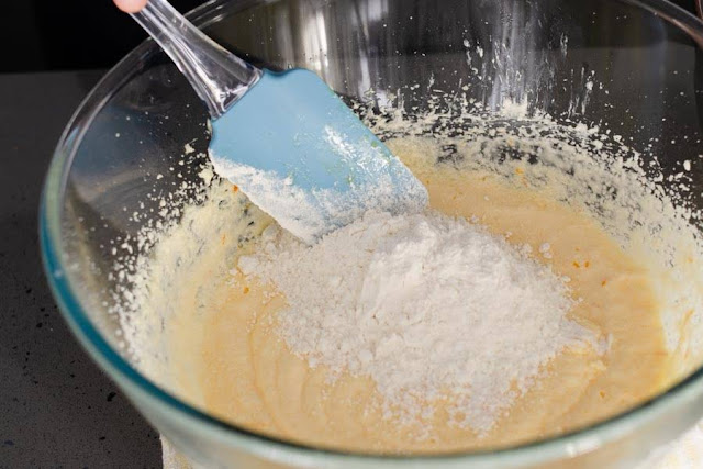 Add flour to egg mixture image