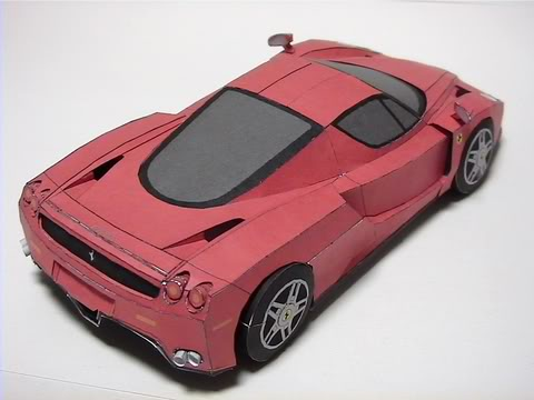 Ferrari Enzo Paper Car Download