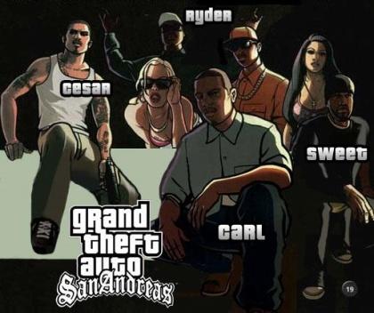 GTA San Reas Characters