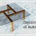 Membuat desain meja di AutoCAD