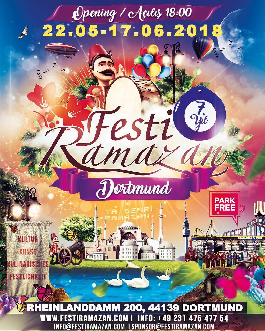 Festi Ramazan Almanya Avrupa Dortmund Deutschland