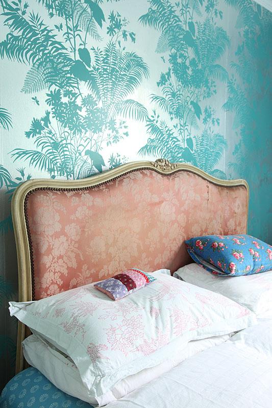 tapeta, zdobiona tapeta, tapeta w stylu rustykalnym