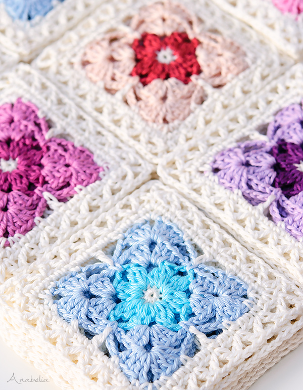 Crochet Square Motif 1/2018 PDF pattern by Anabelia Craft Design