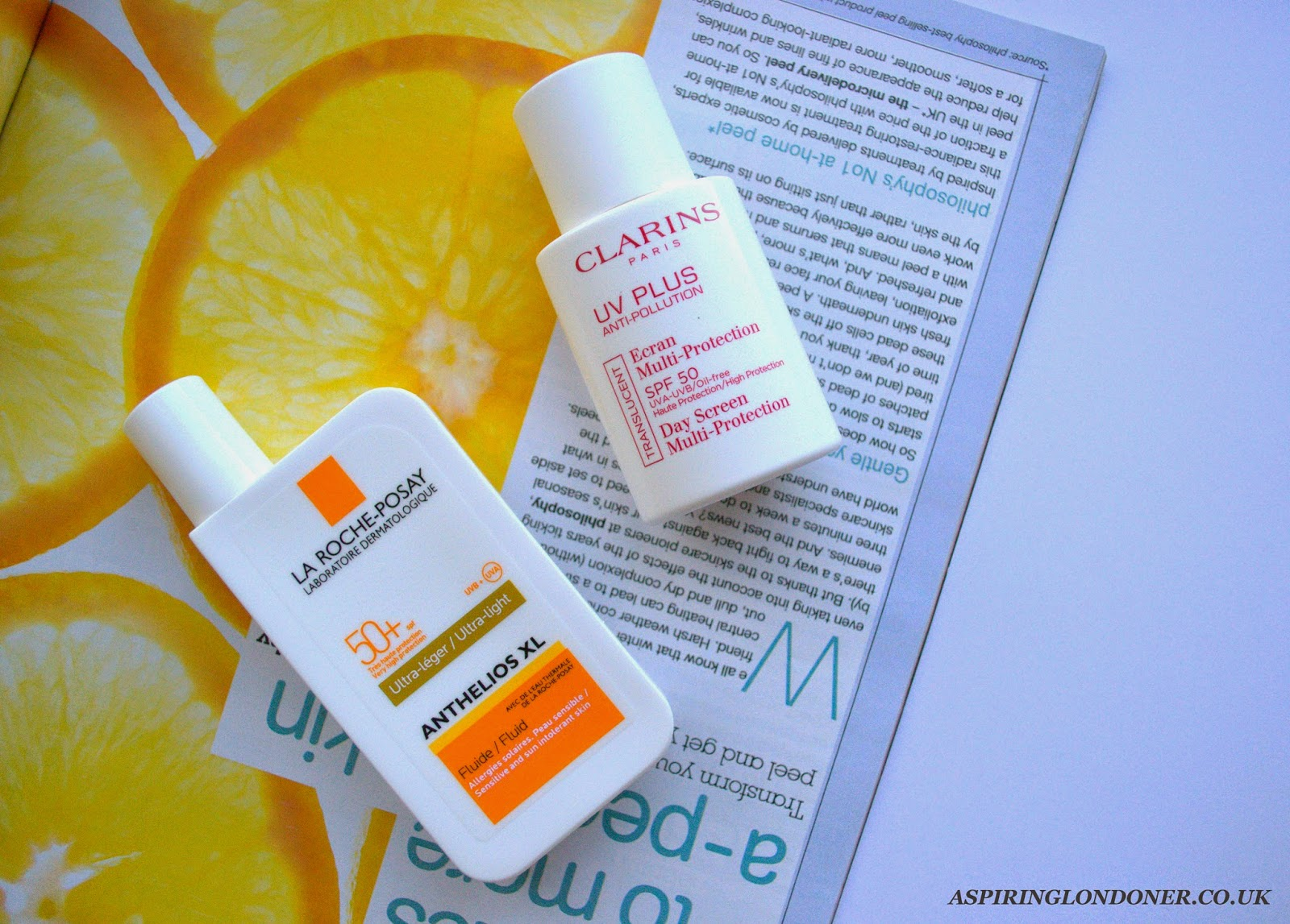 Facial SPF ft. Clarins UV Plus SPF50 & La Roche-Posay Anthelios XL Fluid - Aspiring Londoner