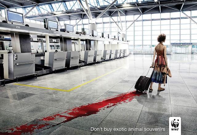 衝撃的でクリエイティブ、世界自然保護基金WWFの面白い広告 連れて歩くのは?