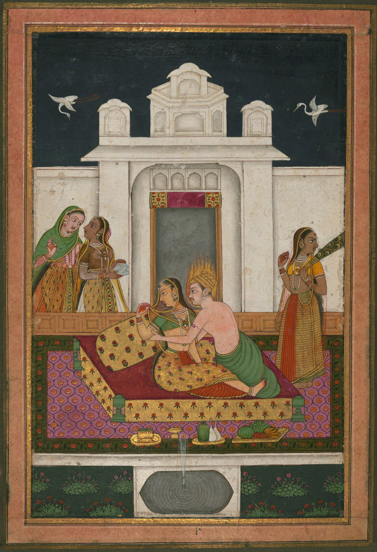Dipaka Raga - Miniature Painting, Deccan School, Ragamala series, 19th Century
