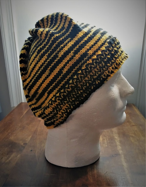 Black and yellow Uptown Worsted Spirit Stripes