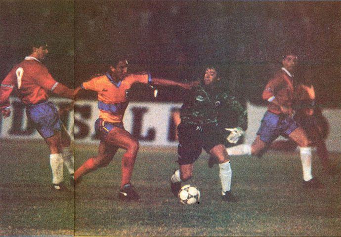 Ecuador y Chile en partido amistoso, 19 de junio de 1991