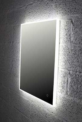 Valopeili Avonia, Valopeili, Epävuora valaistus, vessan valopeili, peili vessaan, Wc:n peili