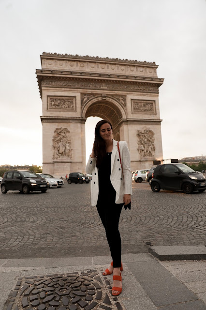 Alicia Mara at the Arc du Triomphe