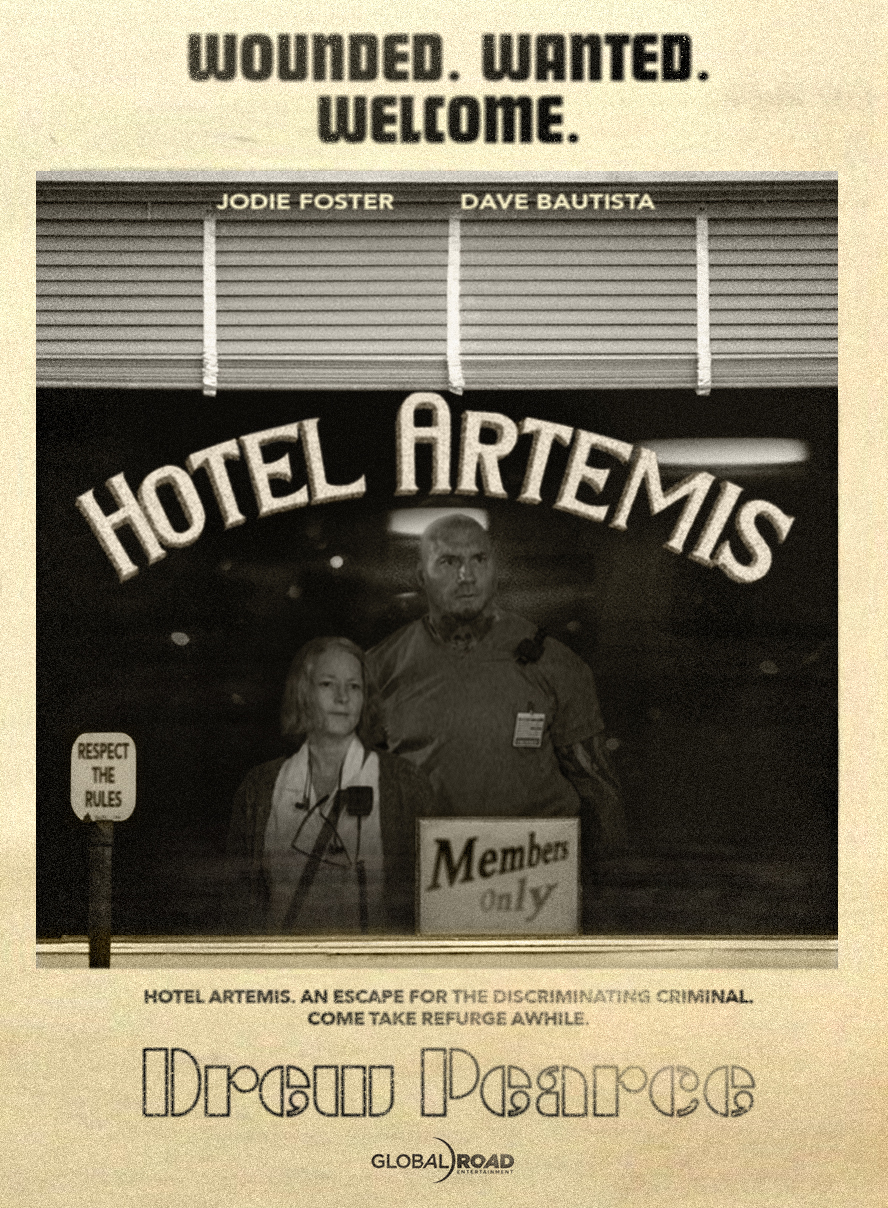 separation shoes 86e51 7c535 Set in riot-torn, near-future Los Angeles, HOTEL ARTEMIS is an original,  high-octane action-thriller starring Jodie Foster as The Nurse, who runs a  secret, ...