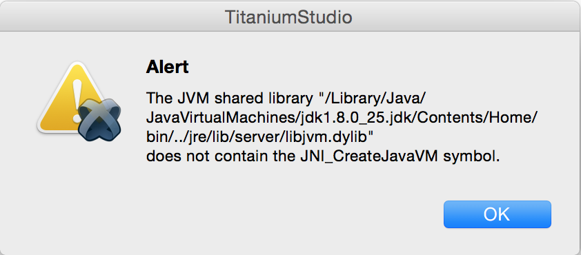 GAME DEV TO DIED: Titanium Studio - Error : The JVM shared library