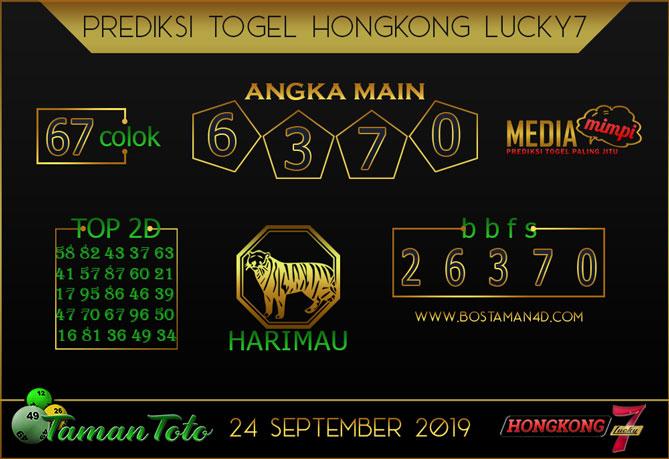 Prediksi Togel HONGKONG LUCKY 7 TAMAN TOTO 24 SEPTEMBER 2019