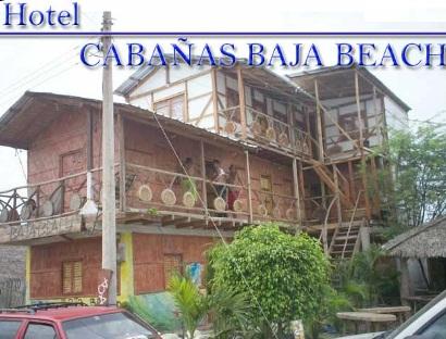 hotel en Canoa - Hostal Cabañas Baja Beach