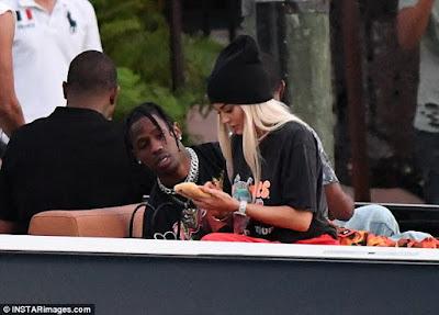 Kylie Jenner pictured kissing rumoured new boyfriend Travis Scott