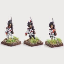 AWF2 Grenadiers in bearskins, marching.