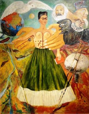 Pintura de Fria Kahlo - o marxismo trará saúde aos doentes