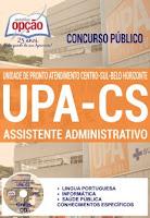 Apostilas UPA Centro-Sul BH Assistente Administrativo