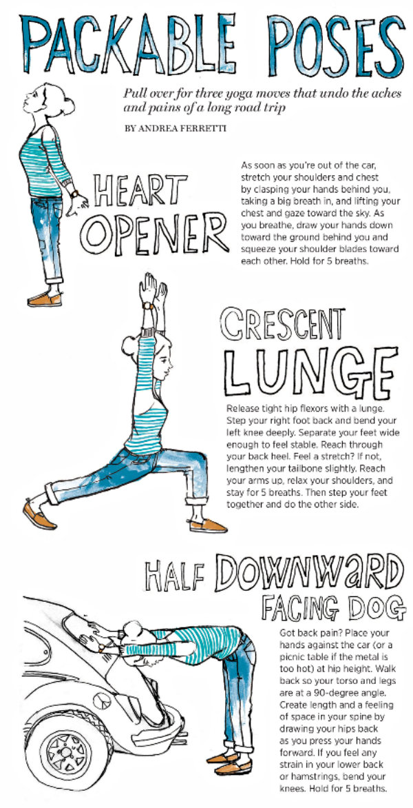 Practice Easy Yoga Moves On The Go