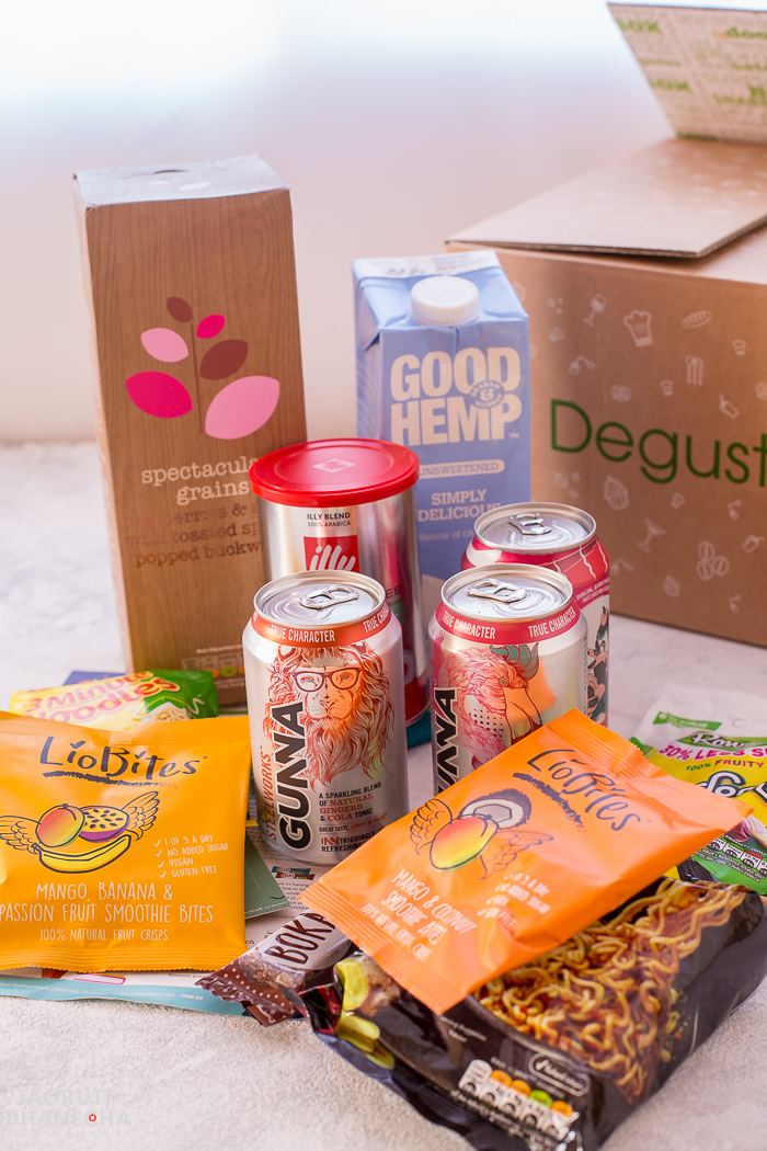 Degustabox is a surprise monthly subscription food box. August 2018 box