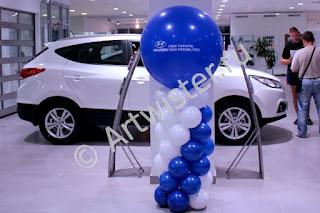 Украшение шарами с логотипом автосалона