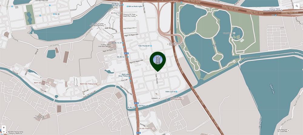 vị trí dự án số 1 Trần Thủ Độ