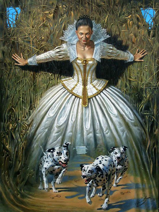 Hidden 3d Illusion Wallpapers Absurdity Illusion Paintings By Michael Cheval Master Of