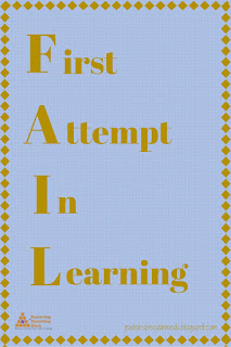 F.A.I.L. = First Attempt In Learning; Removing the Stumbling Block