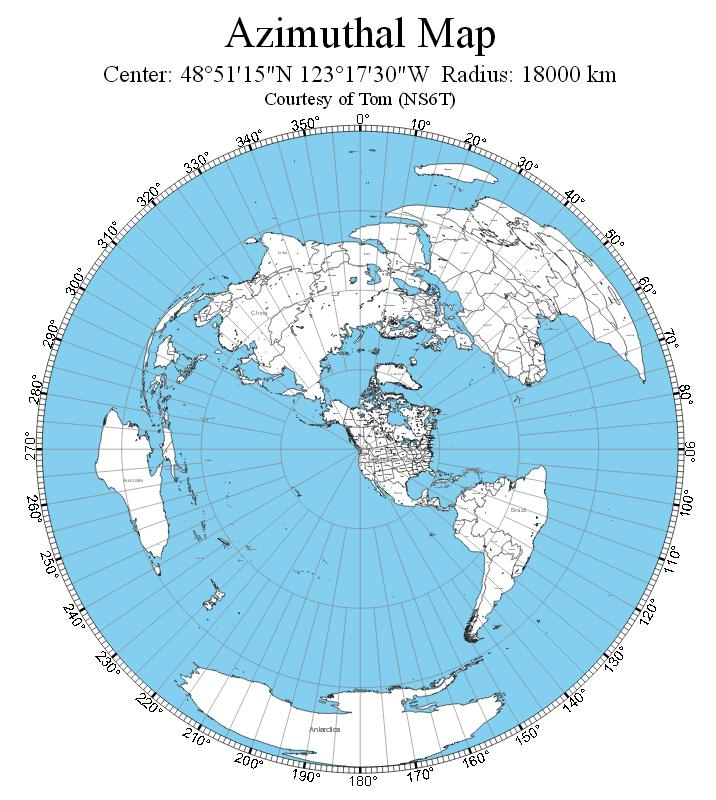 Great circle map generator amateurradio hopefully you might find the map generator of some value in your own shack gumiabroncs Images